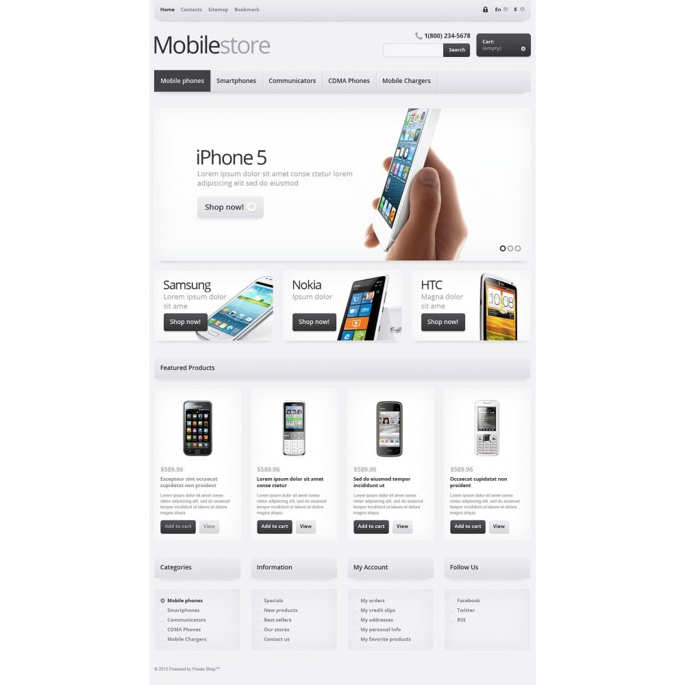 theme - Electrónica e High Tech - Responsive Mobile Store - 2