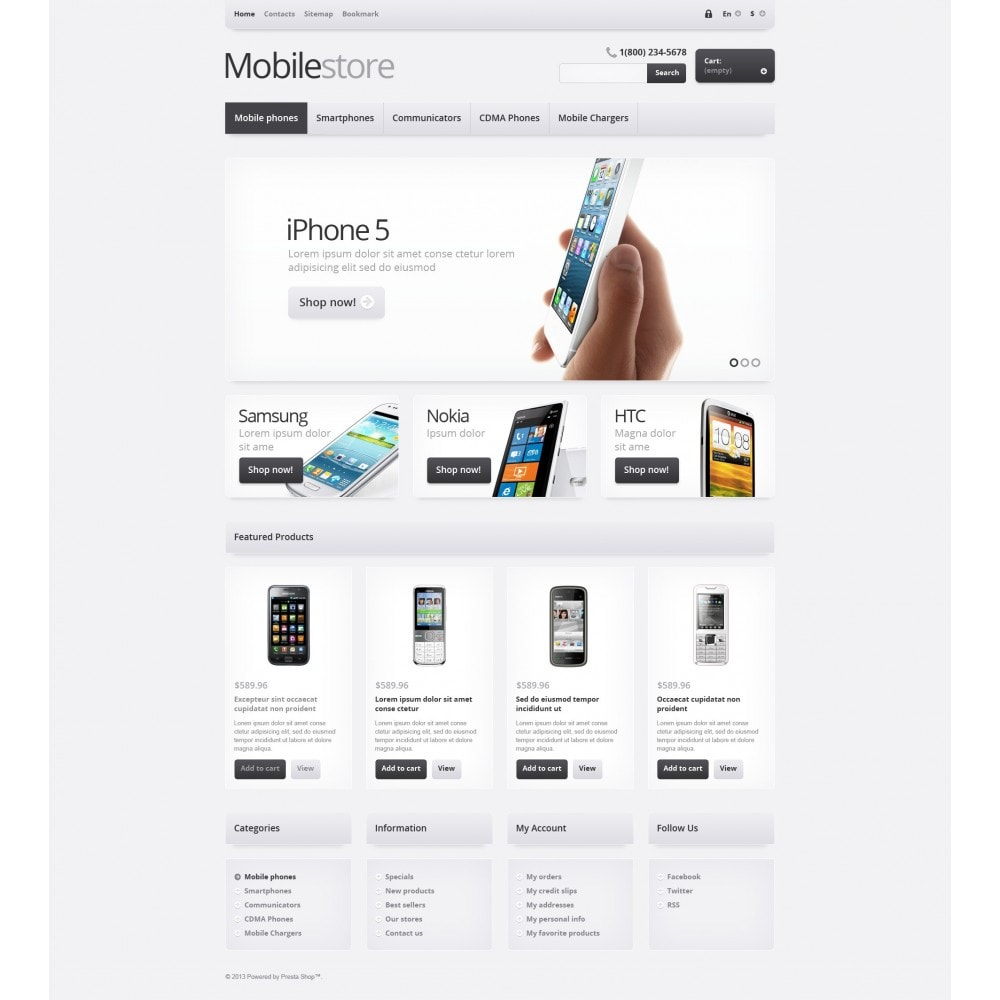 theme - Electrónica e High Tech - Responsive Mobile Store - 5