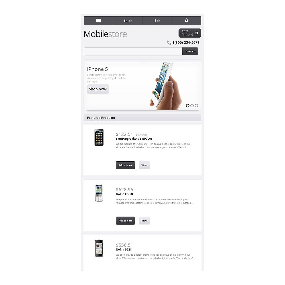 theme - Electrónica e High Tech - Responsive Mobile Store - 9