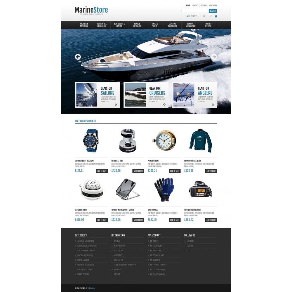 theme - Sport, Rozrywka & Podróże - Responsive Marine Store - 2