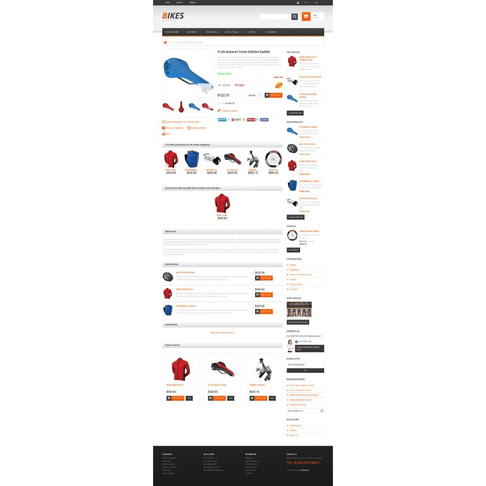 theme - Sports, Activities & Travel - Responsive Bikes Store - 6