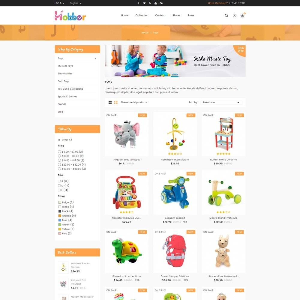 theme - Kids & Toys - Hobber Toy Store - 3