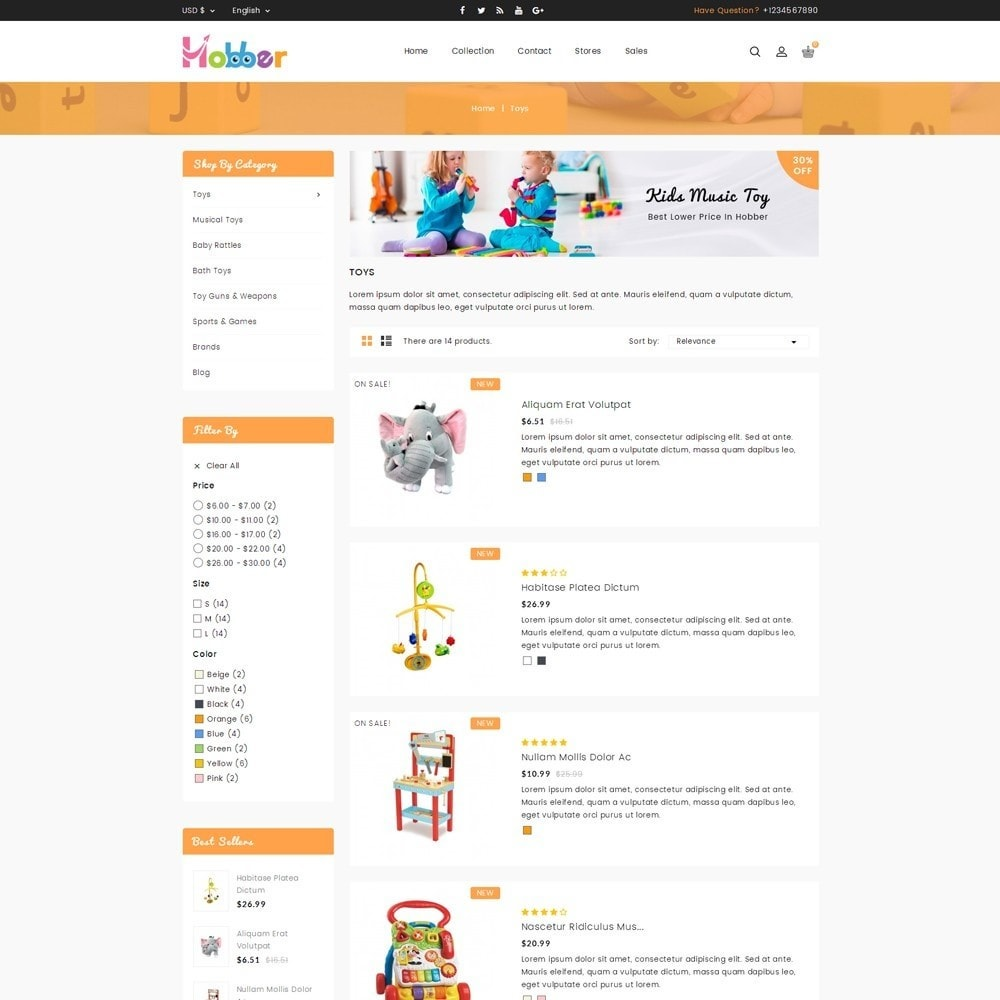 theme - Kids & Toys - Hobber Toy Store - 4