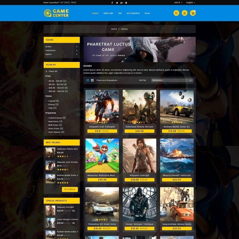 theme - Sport, Loisirs & Voyage - Game center Online Store - 3