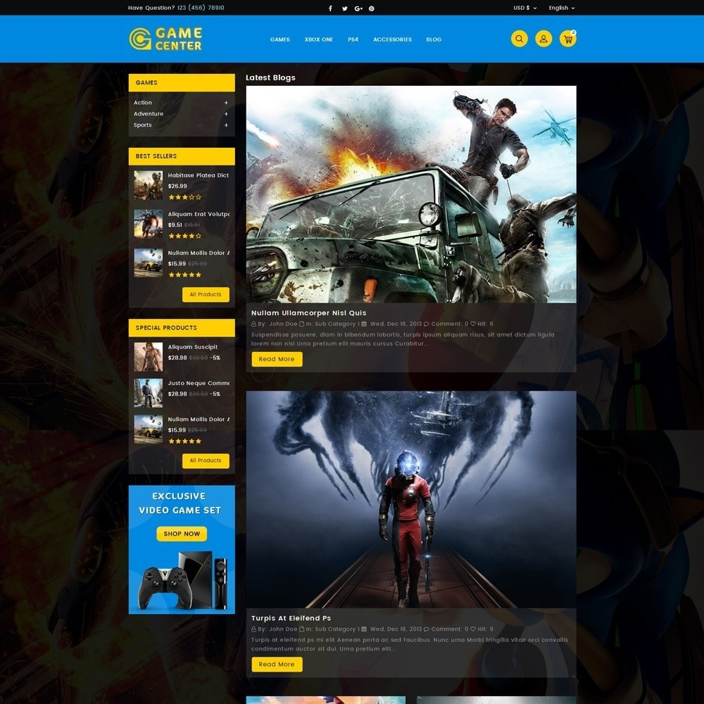 theme - Спорт и Путешествия - Game center Online Store - 6