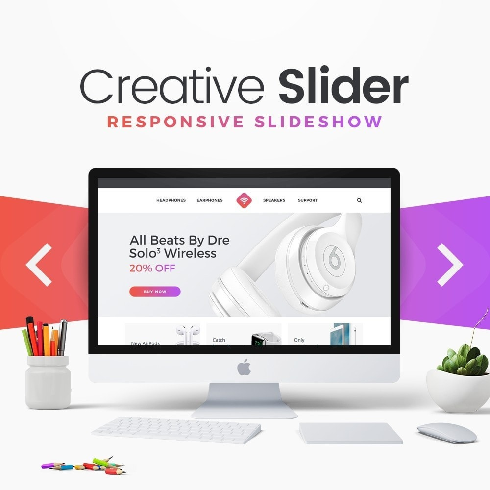module - Gallerijen & Sliders - Creative Slider - Responsive Slideshow - 1