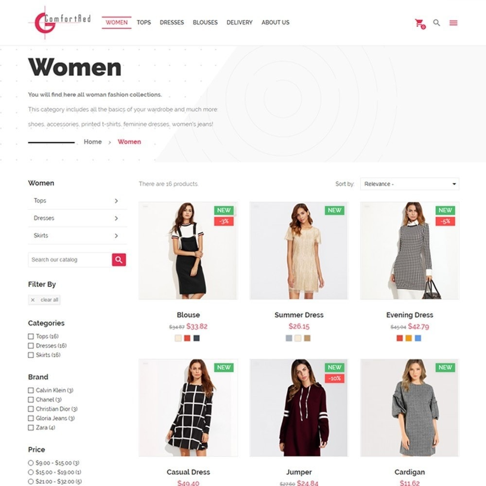 theme - Moda & Calzature - ComfortRed Style Clothes Store - 4
