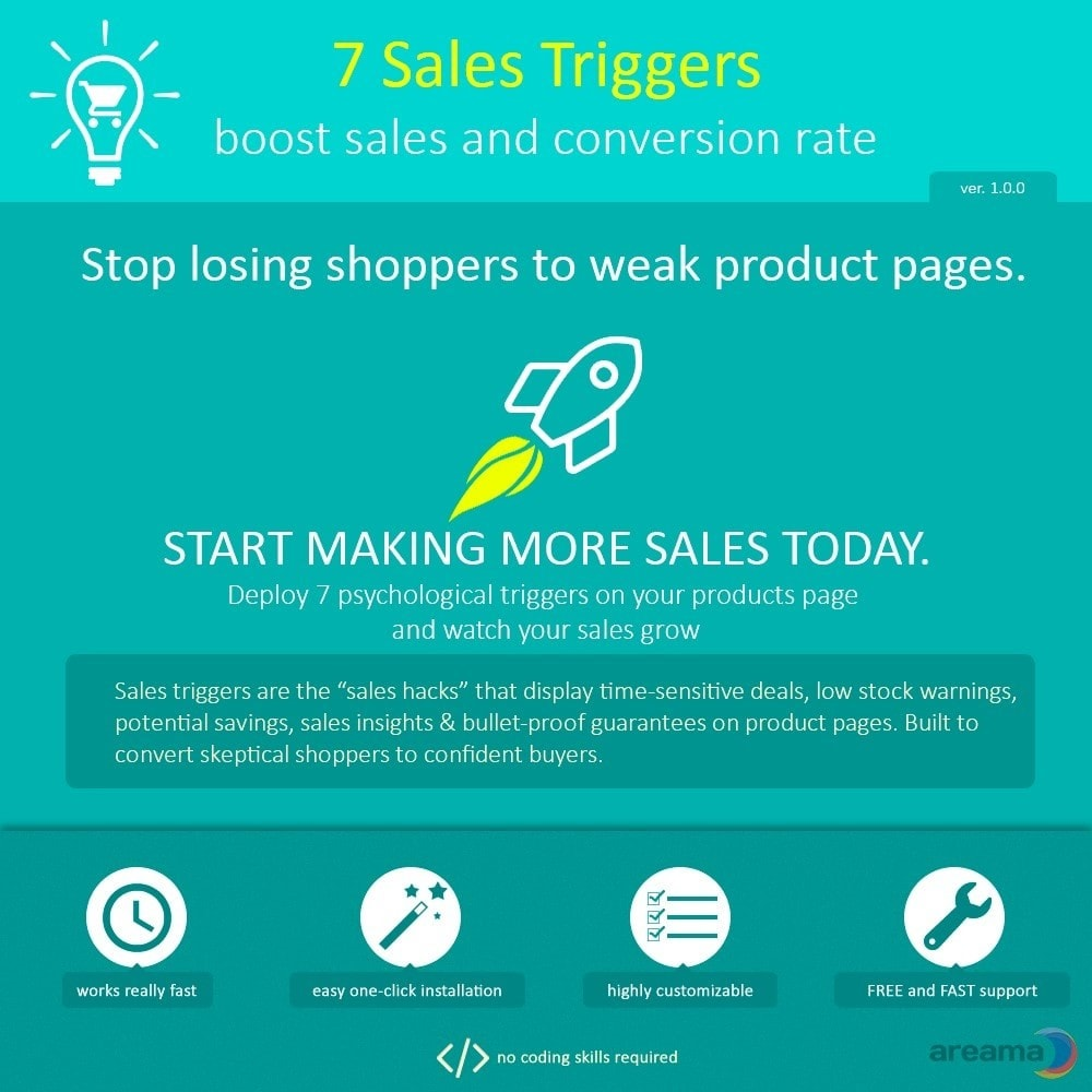 module - Additional Information & Product Tab - 7 Sales Triggers - boost sales and conversion rate - 1