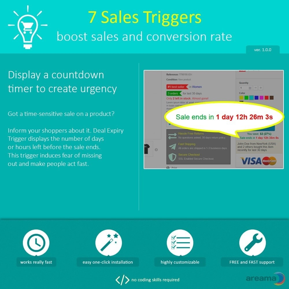 module - Zusatzinformationen & Produkt-Tabs - 7 Sales Triggers - boost sales and conversion rate - 3