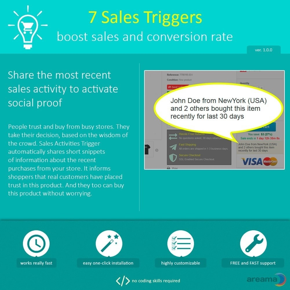module - Zusatzinformationen & Produkt-Tabs - 7 Sales Triggers - boost sales and conversion rate - 7