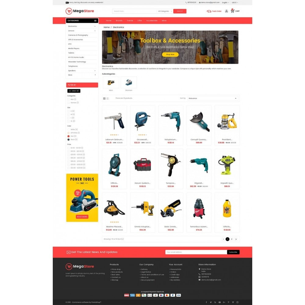 theme - Elektronica & High Tech - Mega Power Tools Store - 3