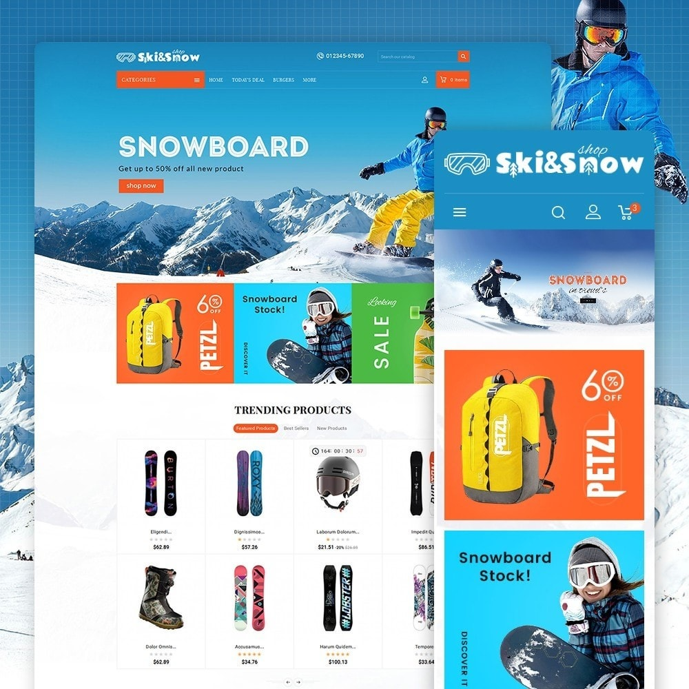 theme - Sports, Activities & Travel - Ski & Snow Boards - 1