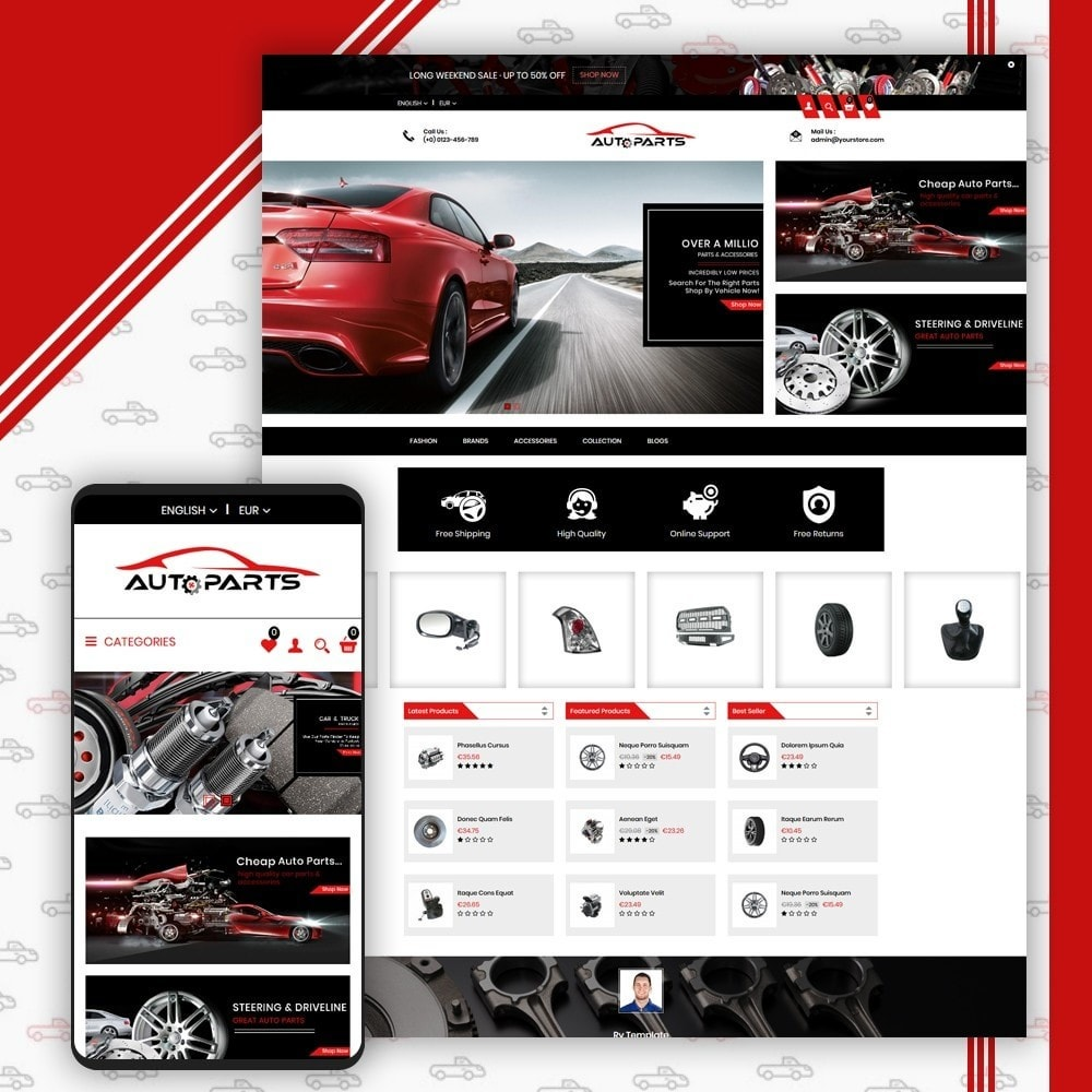 theme - Coches y Motos - Auto Parts Shop - 1