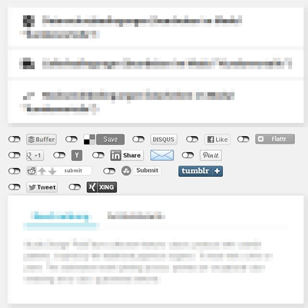 module - Teilen & Kommentieren - 2klick Lösung Social-Media Buttons besseren Datenschutz - 1
