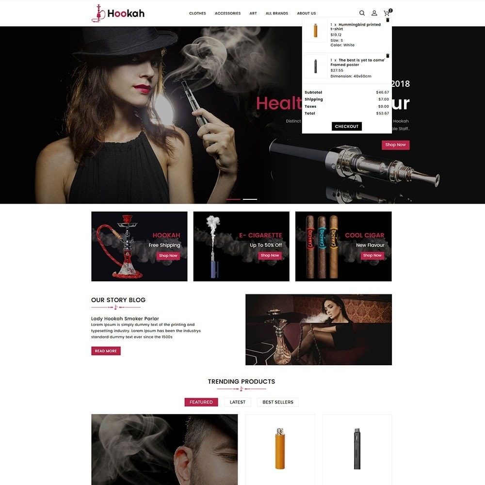 theme - Boissons & Tabac - Hookah and Cigar Shop - 3