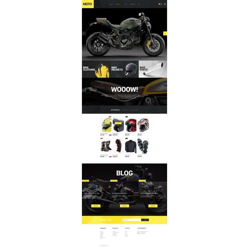 theme - Sports, Activities & Travel - Motorcycle Store - 2