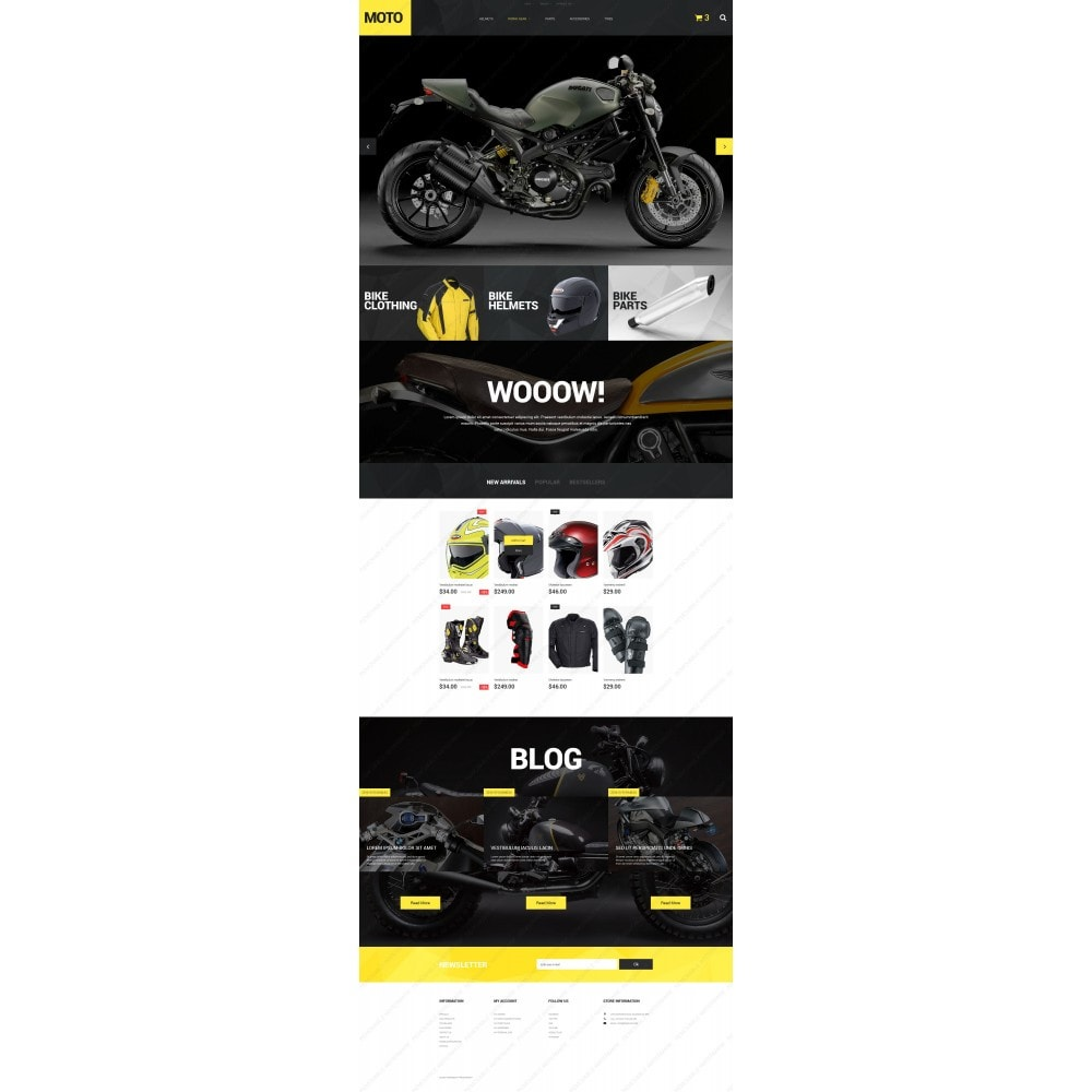 theme - Sport, Loisirs & Voyage - Motorcycle Store - 5