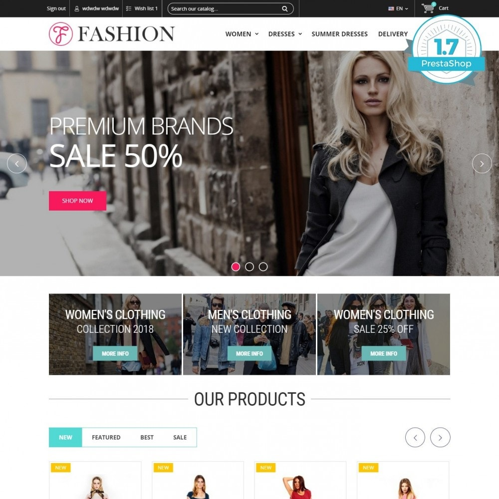 theme - Fashion & Shoes - Clothing - Fashion Store - 1