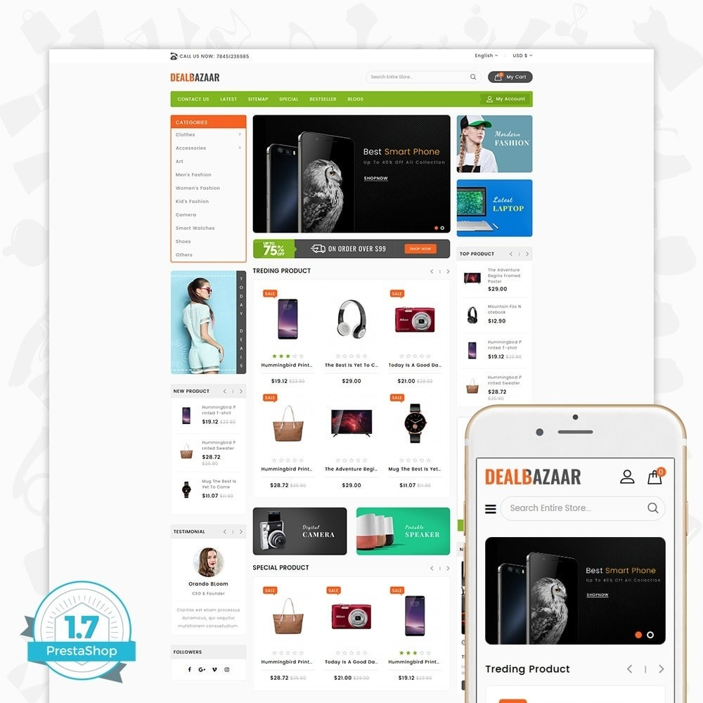 theme - Elettronica & High Tech - DealBazaar - Largest Marketshop - 1