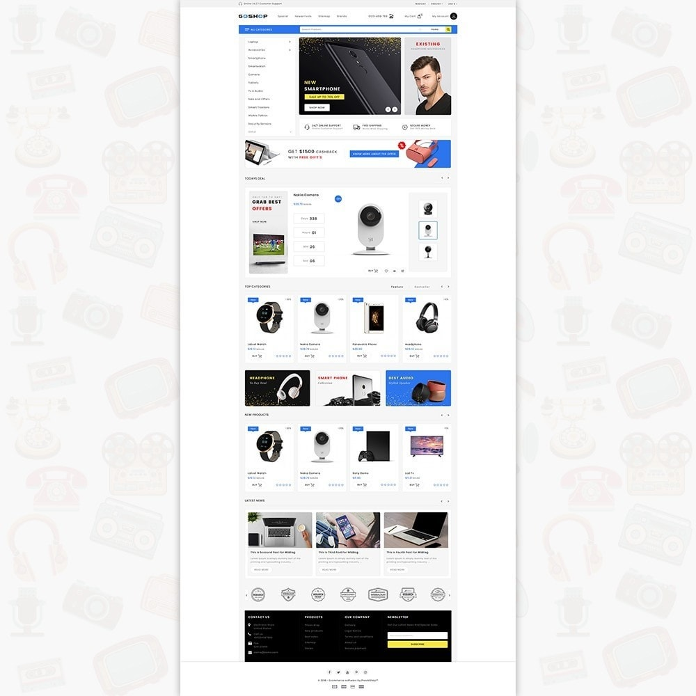 theme - Eletrônicos & High Tech - GoShop - The Electronics Store - 2