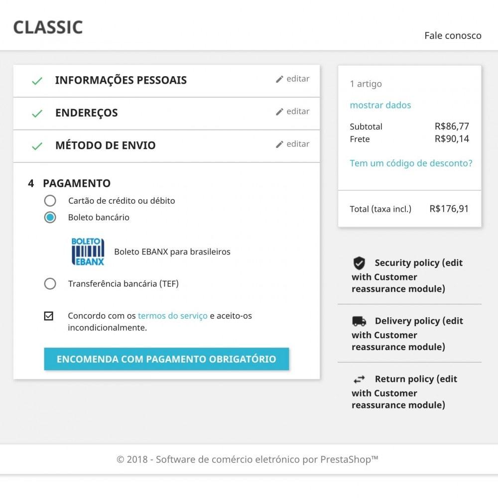 module - Pagamento por cartão ou por carteira - EBANX Plus - 8
