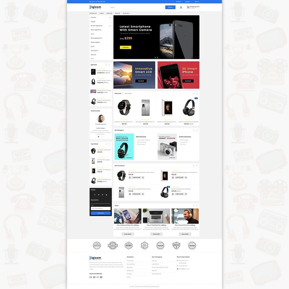 theme - Eletrônicos & High Tech - DIGICOM- The Large Ecommerce Store - 2