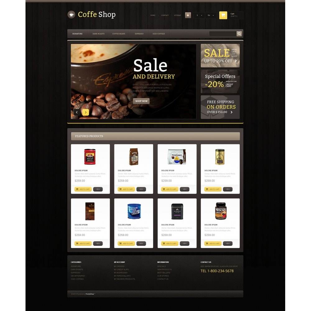 theme - Eten & Restaurant - Responsive Coffee Shop - 2