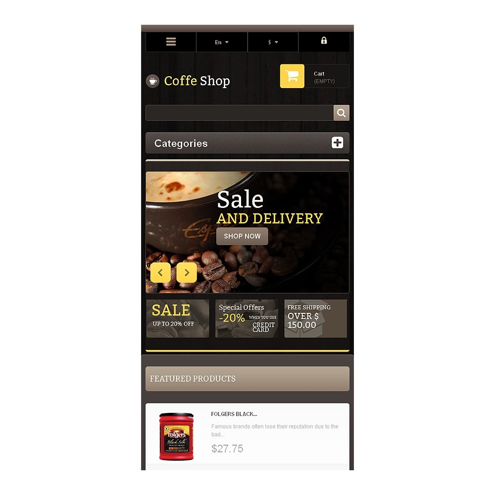 theme - Eten & Restaurant - Responsive Coffee Shop - 8