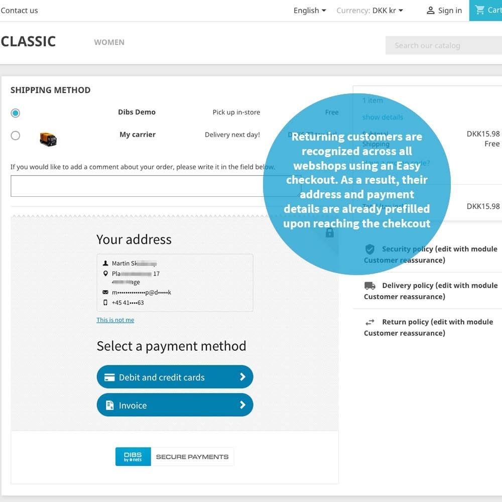 module - Оплата банковской картой или с помощью электронного кошелька - DIBS Easy - 4