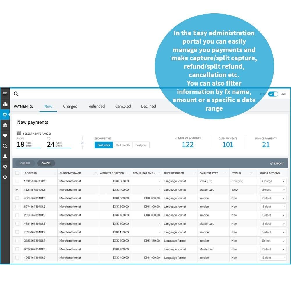 module - Pago con Tarjeta o Carteras digitales - DIBS Easy - 5
