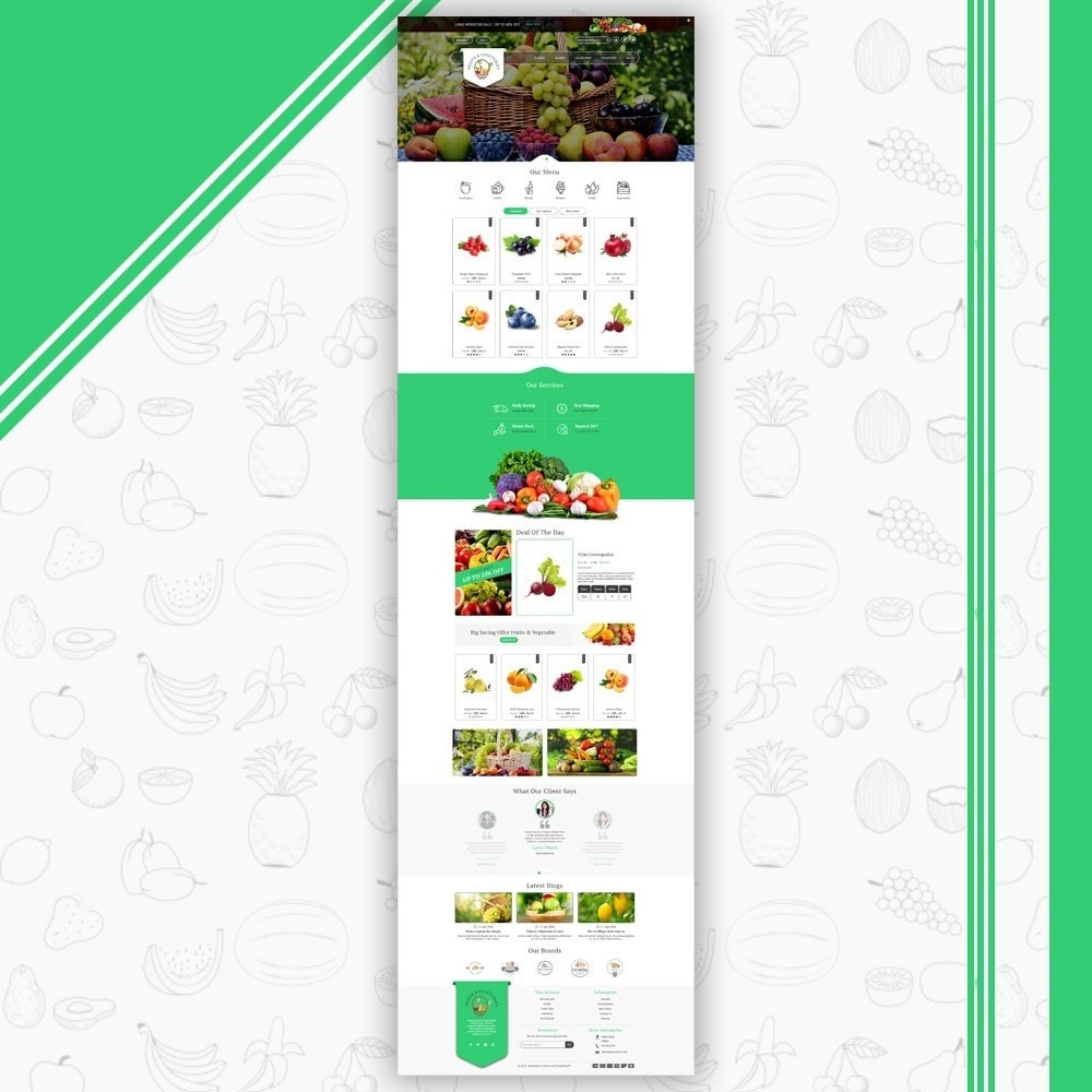 theme - Food & Restaurant - Fruits & Vegetables Store - 2