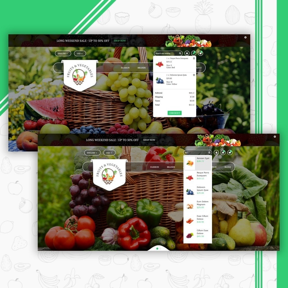 theme - Food & Restaurant - Fruits & Vegetables Store - 6