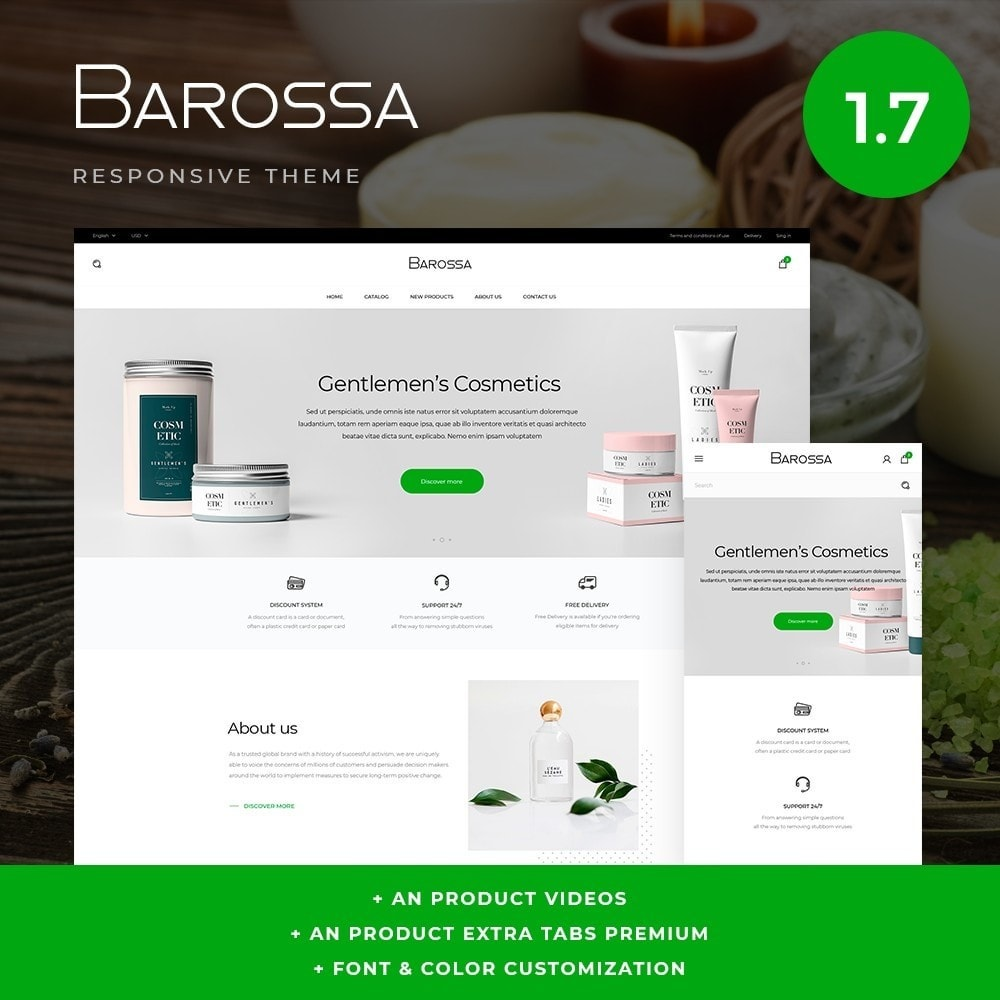 theme - Health & Beauty - Barossa Cosmetics - 1