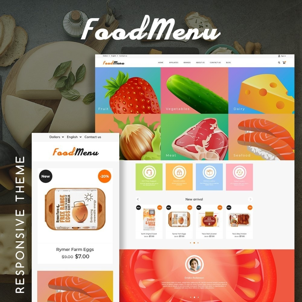 theme - Food & Restaurant - FoodMenu - 1