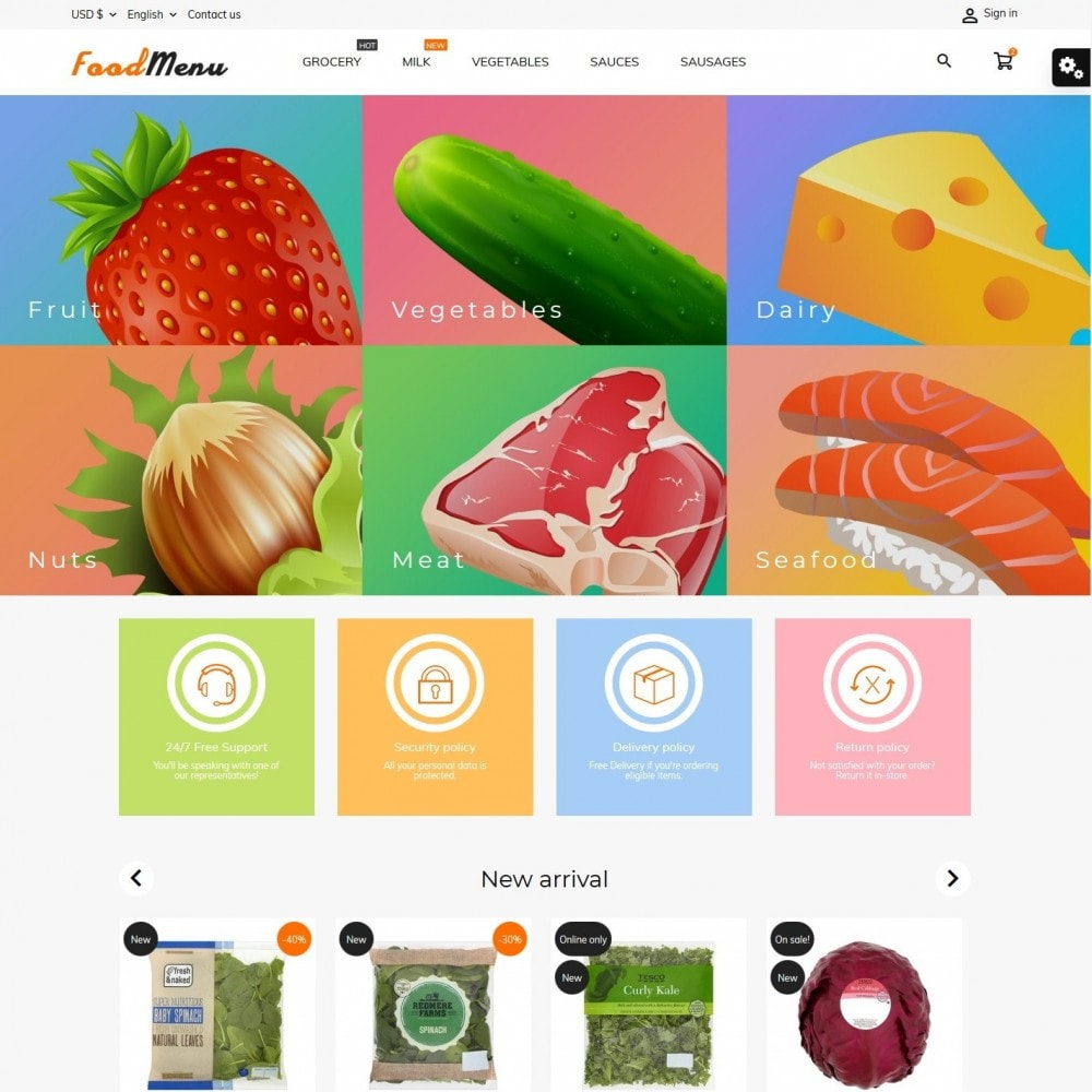 theme - Food & Restaurant - FoodMenu - 2