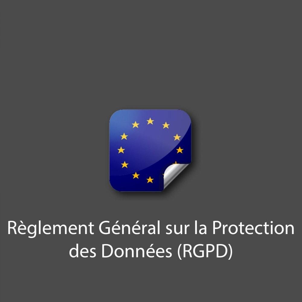 module - Législation - Règlement Général sur la Protection des Données (RGPD) - 1