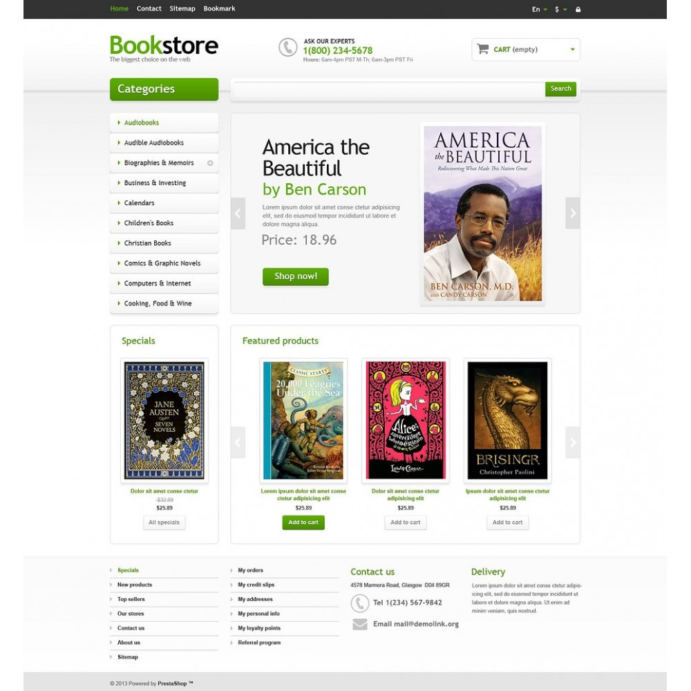 theme - Art & Culture - Responsive Books Store - 2