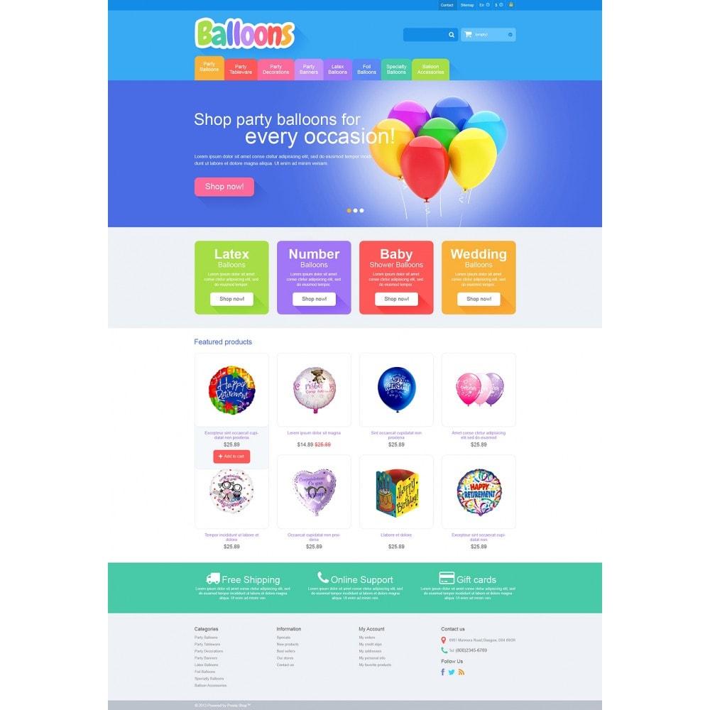 theme - Дети и Игрушки - Responsive Balloons Store - 2