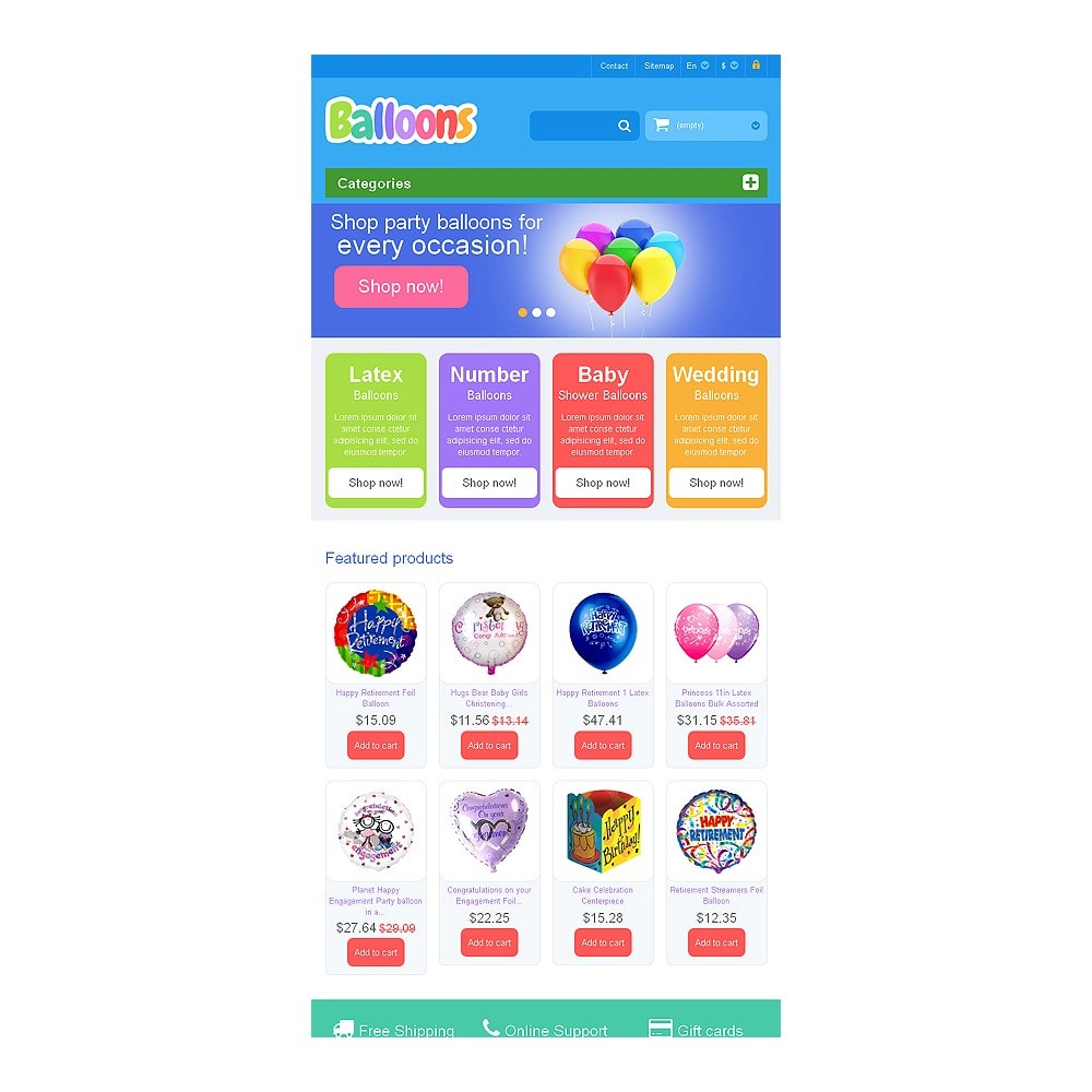 theme - Дети и Игрушки - Responsive Balloons Store - 7