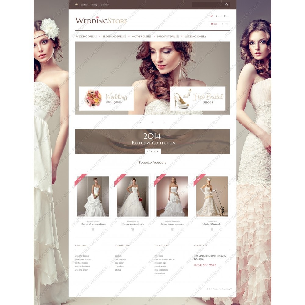 theme - Fashion & Shoes - Wedding Store - 3
