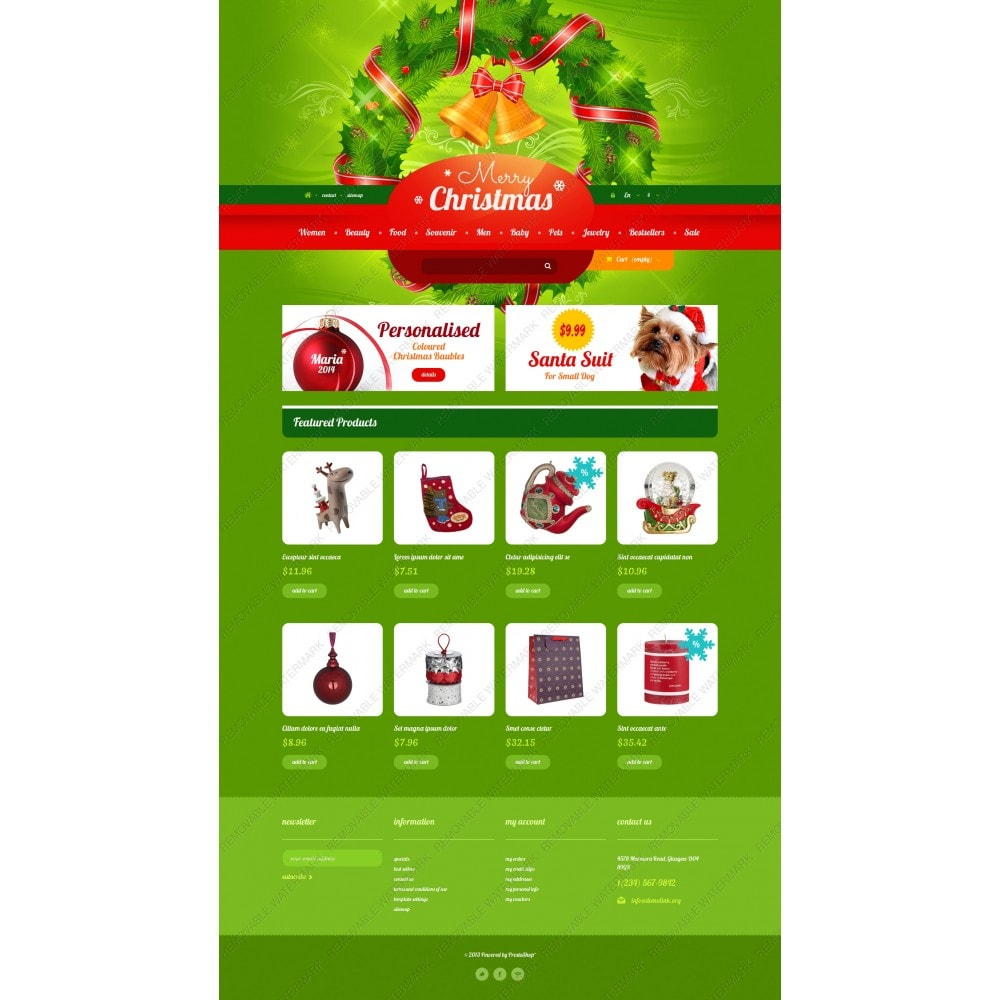 theme - Gifts, Flowers & Celebrations - Christmas Gift Shop - 3