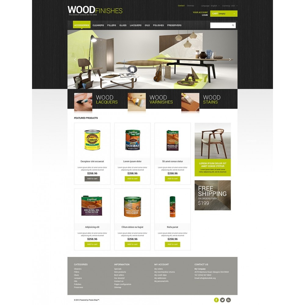 theme - Arte & Cultura - Wood Finishes Store - 2