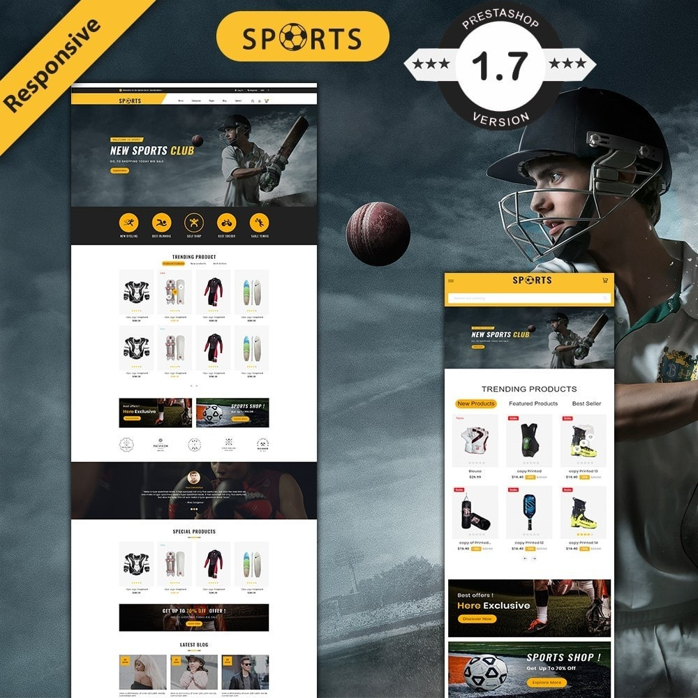 theme - Sport, Aktivitäten & Reise - sports accessories store - 1