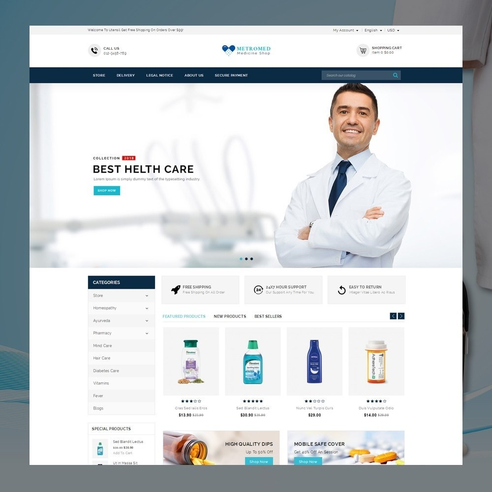 theme - Health & Beauty - Metromed - The Medicine Shop - 2