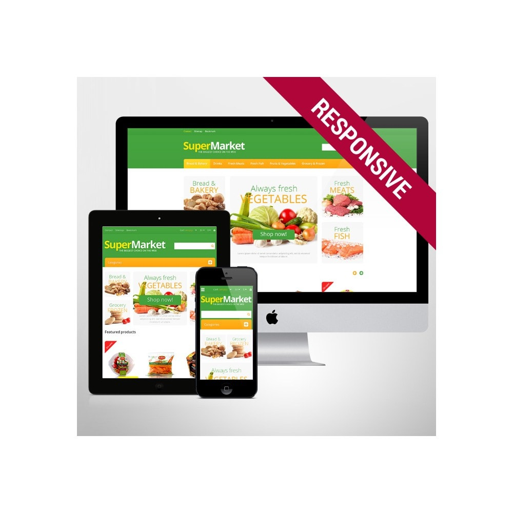 theme - Food & Restaurant - Responsive Supermarket - 1