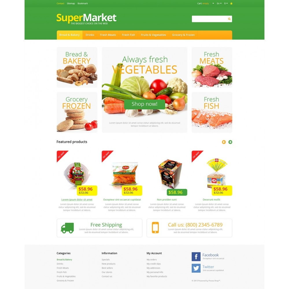 theme - Food & Restaurant - Responsive Supermarket - 2