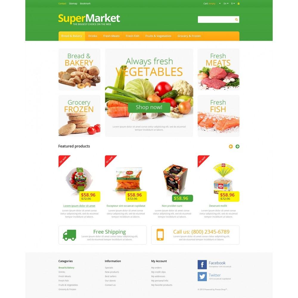 theme - Lebensmittel & Restaurants - Responsive Supermarket - 2