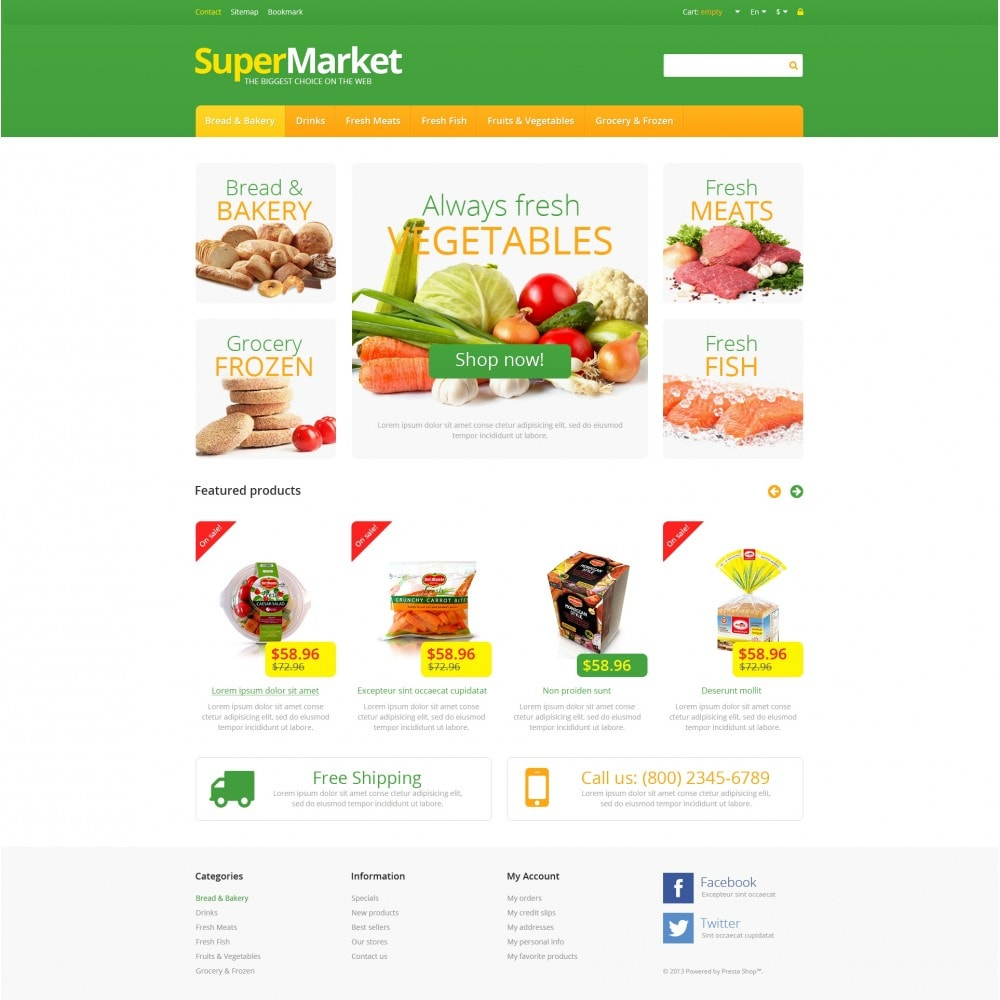 theme - Food & Restaurant - Responsive Supermarket - 4