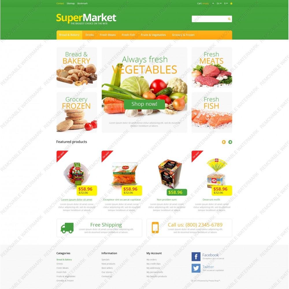 theme - Продовольствие и рестораны - Responsive Supermarket - 5