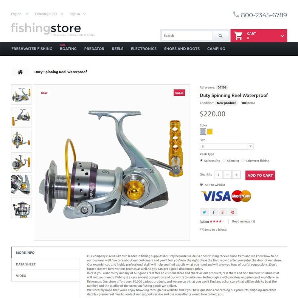 theme - Sport, Rozrywka & Podróże - Fishing Store - The Biggest Choice On The Web - 3
